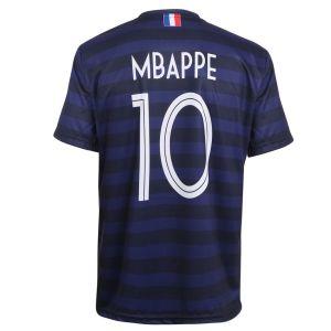 Frankrijk Voetbalshirt Mbappé Thuis 2020-2021 Kids - Senior