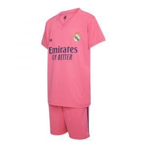 Real Madrid Voetbaltenue Uit Eigen Naam Roze 2020-2021 Kids